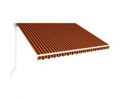 Auvent retractable automatique 400x300 cm Orange et marron
