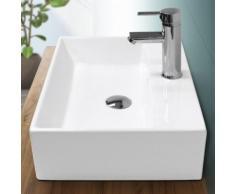 Lavabo vasque salle de bain en céramique suspendu / à poser angulaire 515x360mm