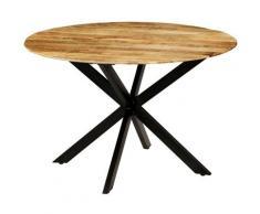 Vidaxl - Table de Salle à Manger 120x77 cm Bois de Manguier Brut et Acier