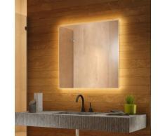 Miroir de Salle de Bain Rétro-Éclairé Blanc Chaud avec Bluetooth k706BLaudWW - Couleur LED :