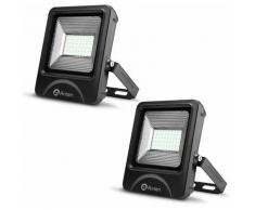 2×Anten 50W Spot LED Éclairage Porjecteur LED IP65 Étanche Ultra-Mince Lampe à Leds pour Intérieur