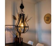 Suspension Industrielle ronde 40cm Noire - Morgana Qazqa Industriel Luminaire interieur