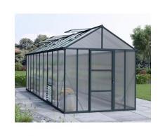 Serre de Jardin GLORY 8x20 gris anthracite - 14.7m²