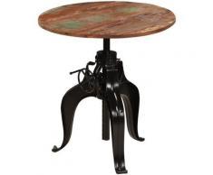 Table de bar Bois de récupération massif 75 x (76-110) cm