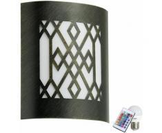 Lampe extérieure murale robuste veranda balcon or noir Télécommande distance dans l'ensemble RGB LED