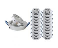 Lampesecoenergie - LOT DE 20 SPOT LED ENCASTRABLE ORIENTABLE 5W eq. 50W, BLANC CHAUD ref.64853000