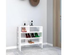 Meuble à chaussure Mix - L. 63,6 x H. 60 cm - Blanc