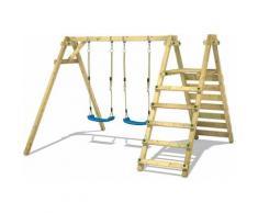 Portique balançoire Aire de jeux Smart Up avec Portique bois pour enfants - Wickey