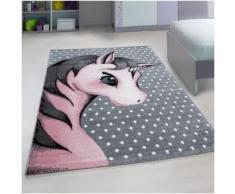 Tapis rectangle pour chambre de bébé licorne Willis Rose 80x150