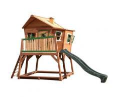AXI - Max Playhouse: Maisonnette pour enfants, fenêtres intégrées et bois très résistant