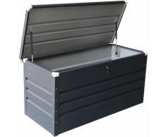 Coffre de jardin métal anthracite 370 L
