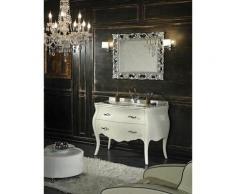 Meuble Style Shabby Baroque En Blanc Avec Tiroirs Et Pieds