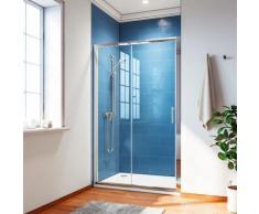 Porte de douche 160x185 cm coulissante paroi de douche ELEGANT