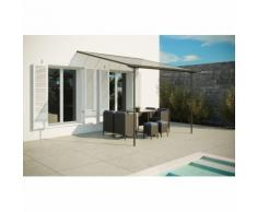 Ferrato 9,56 m² : tonnelle murale, carport en aluminium 3,75 x 2,55 m