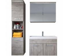 Meuble de salle de bain de Paso 80x40cm lavabo Ribbeck Grey – Armoire de rangement Meuble lavabo