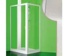 Idralite - Cabine douche 90x100 CM en acrylique mod. Mercurio avec ouverture centrale