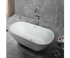 Arati Bath&shower - Baignoire ovale sur pied Installation indépendante Design Coo
