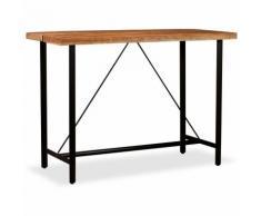 Hommoo Table de bar Bois massif de Sesham 150 x 70 x 107 cm