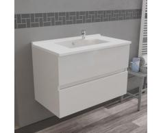 Caisson simple vasque 80 - Blanc brillant - Rosaly