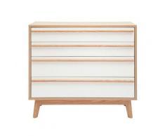 Commode 4 tiroirs design scandinave HELIA