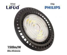Suspension industrielle UFO 200W Philips LED régulable 1-10V | Blanc Froid