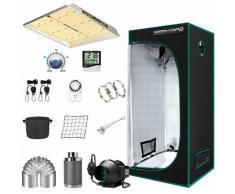 TS 1000W LED élèvent la lumière + 2.3'x2.3 'tente de culture intérieure Kits complets minuterie de