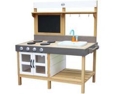 Rosa Cuisine Enfant en bois | Cuisine de jeu multifonctionnelle |Jouet à sable & eau avec kit
