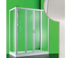 Cabine douche 80x140 CM en acrylique mod. Mercurio 2 avec ouverture centrale
