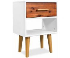 Helloshop26 - Table de nuit chevet commode armoire meuble chambre 40 x 30 x 45 cm bois d'acacia