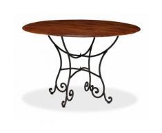 Table de salon salle à manger design bois acacia et finition sesham 120 cm