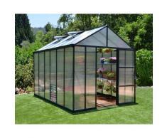 Serre de Jardin GLORY 8x12 gris anthracite - 8.9m²