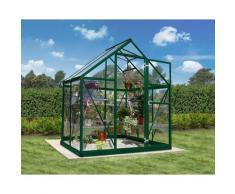 Serre de jardin HARMONY 6x4 vert - 2.3m²
