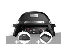 Barbecue électrique Pulse 2000 + Kit ustensiles 3 pièces Better + Plancha - Weber