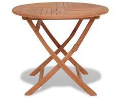 Topdeal VDTD28877_FR Table pliable de jardin 85x76 cm Bois de teck solide