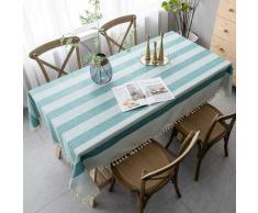 ILoveManoMano Nappe anti-poussière épissage, nappe rectangulaire, avec décoration de table à thé de