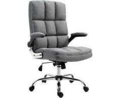 Chaise de bureau 489, chaise de bureau pivotante, réglable en hauteur ~ tissu/textile gris - HHG