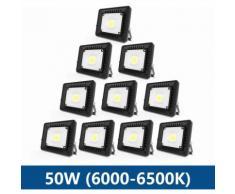 10×Anten 50W Projecteur LED IP65 Étanche Ultra-Mince Spot LED Léger Puissant Lampe pour Intérieur