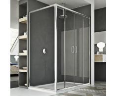 Parois cabine de douche coulissante rectangulaire verre transparent h 185 mod. Replay Duo 2 portes