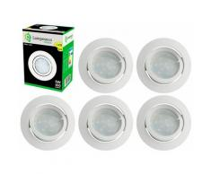 Lampesecoenergie - Lot de 6 Spot Led Encastrable Complete Blanc Orientable lumière Blanc Chaud eq.