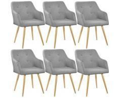 Tectake - Lot de 6 chaises style scandinave TANJA - chaise scandinave, fauteuil scandinave, chaise