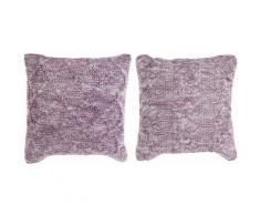 Coussin dkd home decor polyester coton mauve (2 pcs) (45 x 10 x 45 cm) Rogal