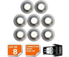 LOT DE 8 SPOT LED ENCASTRABLE ORIENTABLE 5W eq. 50W, BLANC CHAUD ref.64853000