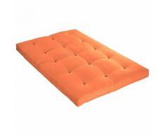 Idliterie - Matelas Futon Coton Couleur - Goyave, Dimensions - 160 x 200 cm
