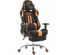 CLP - Fauteuil de bureau racing Limit tissu avec appui-pieds noir/orange