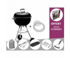Barbecue Weber Bar-B-Kettle GBS 47 cm Noir + Housse + Kit Ustensile + Plancha + Support Accessoires