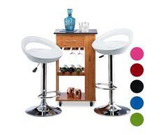 Tabouret de bar hauteur réglable pivotant lot de 2 chaises comptoir 120 kg HxlxP: 98,5 x 46 x 39