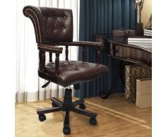 Chaise de bureau pivotante Marron