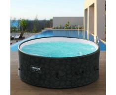 Piscine Spa Pool | Gonflable | Chauffage | Exterieur | Ronde Drop-Stitch - Antracita - Arebos