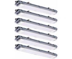 Ensemble de 6 lampes de baignoire à LED Daylight Warehouse Warehouse Halls Plafonniers Garage
