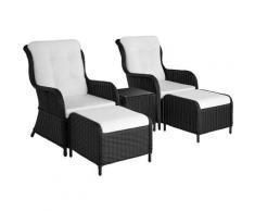 Tectake - Salon de jardin BENISSA - mobilier de jardin, meuble de jardin, ensemble table et chaises